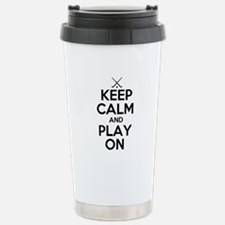 Keep Calm and Play On - Field Hockey Travel Mug