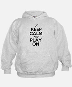 Keep Calm and Play On - Field Hockey Hoodie