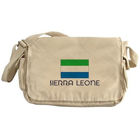 I HEART SIERRA LEONE FLAG Messenger Bag
