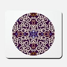 Art Nouveau (purple/ivory) Mousepad / Mouse Pad