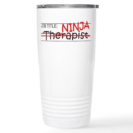 Job Ninja Therapist Stainless Steel Travel Mug