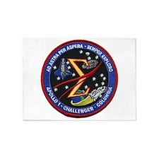 Space Flight Memorial 5'x7'Area Rug