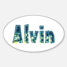 Alvin Under Sea Oval Decal