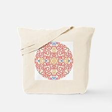 Art Nouveau (Black/Salmon) Tote Bag
