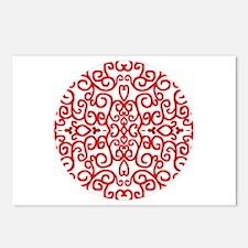 Art Nouveau (black/red) Postcards (Package of 8)