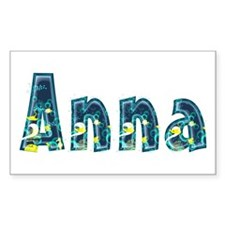 Anna Under Sea Rectangle Decal