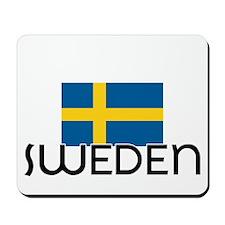 I HEART SWEDEN FLAG Mousepad