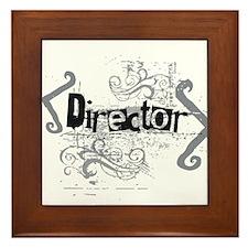 Grunge Director Framed Tile