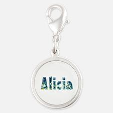 Alicia Under Sea Silver Round Charm