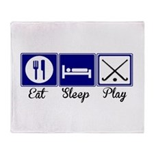 Eat, Sleep, Play - Field Hockey Throw Blanket