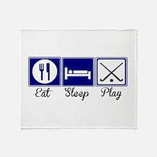 Eat, Sleep, Play - Field Hockey Throw Blanket