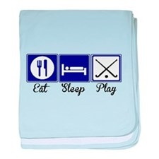 Eat, Sleep, Play - Field Hockey baby blanket