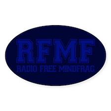 RADIO FREE MINDFRAG Oval Decal