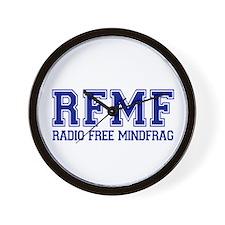 RADIO FREE MINDFRAG Wall Clock
