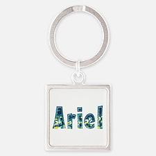 Ariel Under Sea Square Keychain
