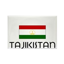 I HEART TAJIKISTAN FLAG Rectangle Magnet