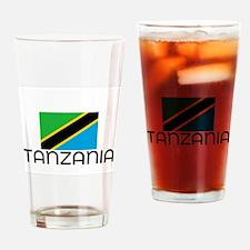 I HEART TANZANIA FLAG Drinking Glass