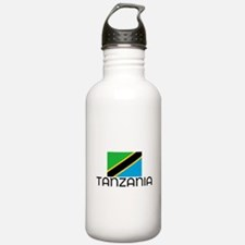 I HEART TANZANIA FLAG Water Bottle