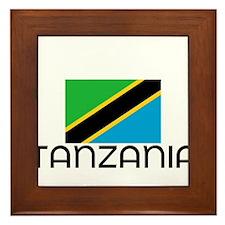 I HEART TANZANIA FLAG Framed Tile