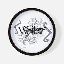 Grunge Writer Wall Clock