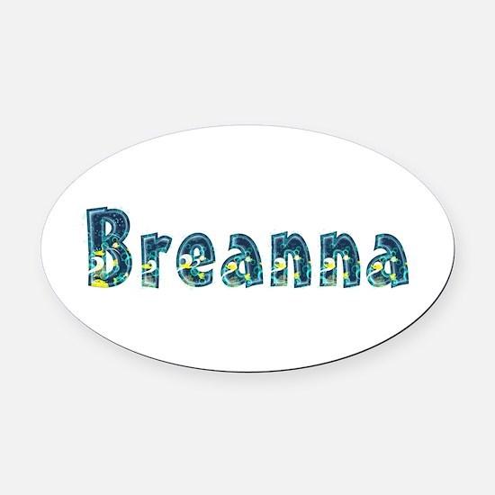 Breanna Under Sea Oval Car Magnet