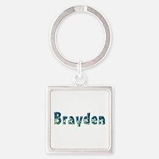 Brayden Under Sea Square Keychain