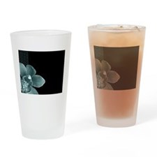 Black and Tiffany Blue Polka Dot Orchid ld Drinkin