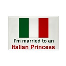 Married To An Italian Princess Rectangle Magnet
