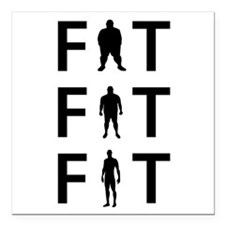 """FAT to FIT Square Car Magnet 3"""" x 3"""""""