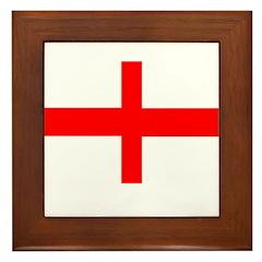 England St George Framed Tile