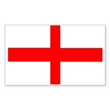 England St George Rectangle Decal