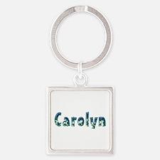 Carolyn Under Sea Square Keychain
