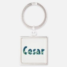 Cesar Under Sea Square Keychain