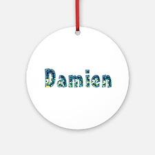 Damien Under Sea Round Ornament