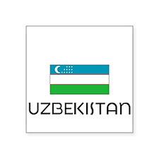 I HEART UZBEKISTAN FLAG Sticker