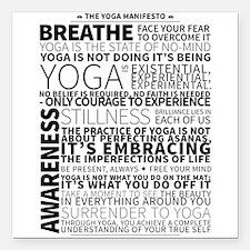 Yoga Manifesto Poster by United Yogis Square Car M