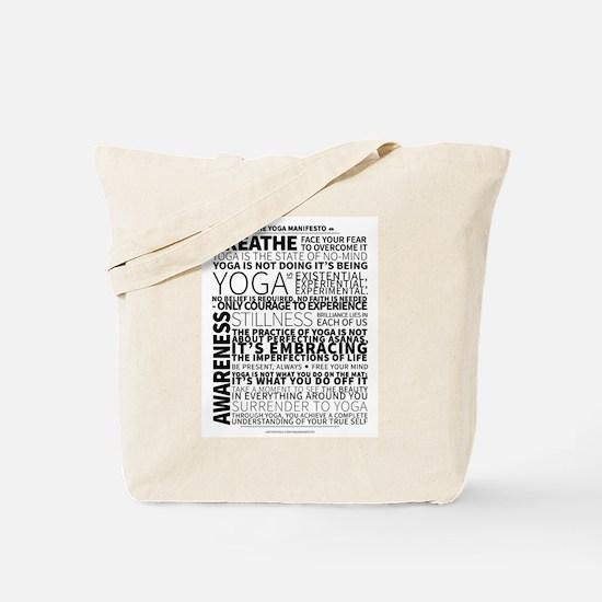 Yoga Manifesto Poster by United Yogis Tote Bag