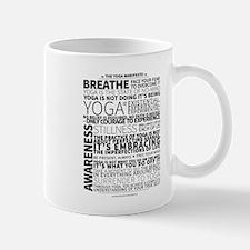 Yoga Manifesto Poster by United Yogis Small Mugs