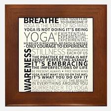 Yoga Manifesto Poster by United Yogis Framed Tile