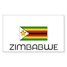 I HEART ZIMBABWE FLAG Decal