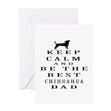 Keep Calm Chihuahua Designs Greeting Card