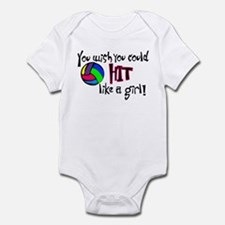 You Wish You Could Hit Like a Girl Infant Bodysuit