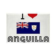 I HEART ANGUILLA FLAG Rectangle Magnet
