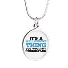 It's a Mellophone Thing Silver Round Necklace