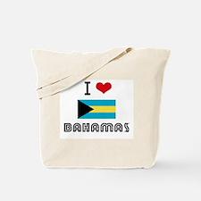 I HEART BAHAMAS FLAG Tote Bag