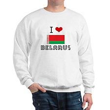 I HEART BELARUS FLAG Sweatshirt