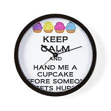Hand Me A Cupcake Wall Clock
