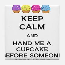 Hand Me A Cupcake Tile Coaster