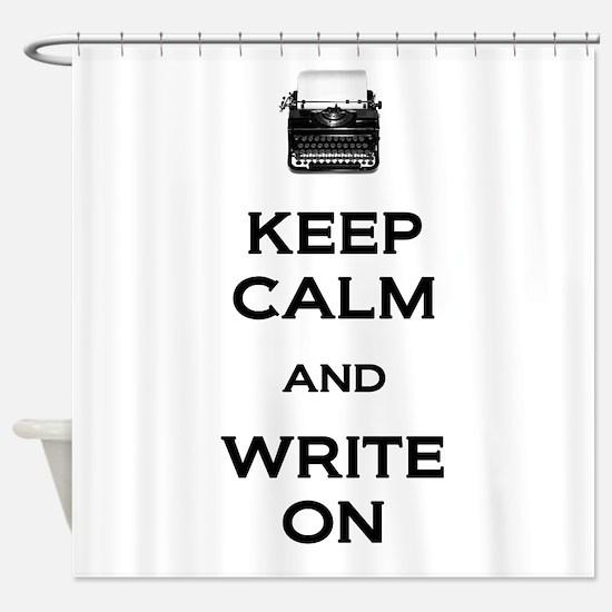 Write On Shower Curtain