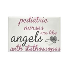 Angels with Stethoscopes Rectangle Magnet
